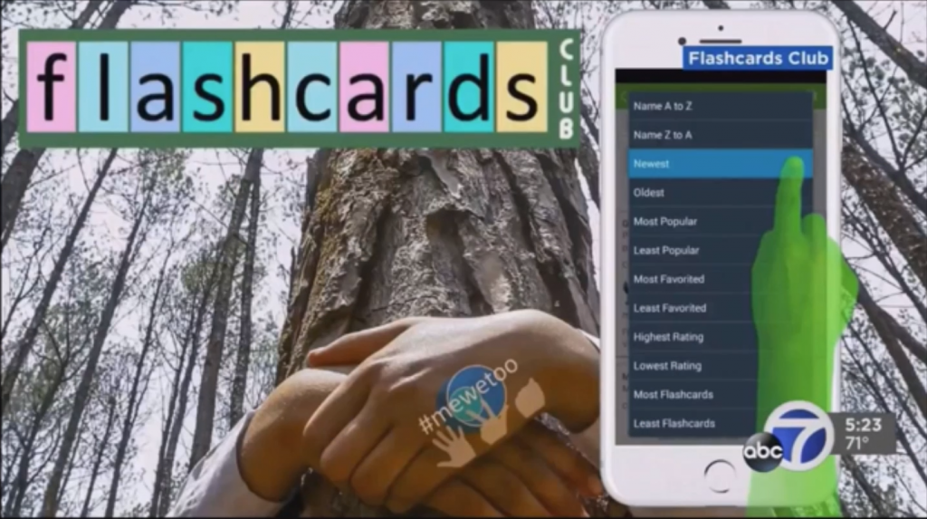 mewetoo on ABC7 News for the Flashcards Club app!! | Me We